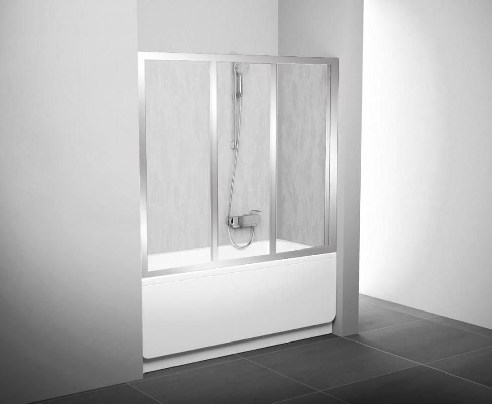 Шторка для ванны Ravak AVDP3 - 120 сатин Rain 40VG0U0241 шторка для ванны ravak avdp3 120 белый профиль матовое стекло