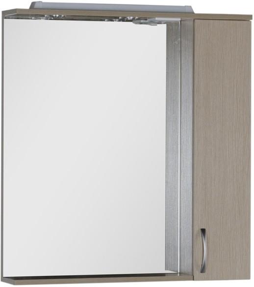 Зеркальный шкаф 80х87 см с подсветкой светлый дуб Aquanet Донна 00168930 тумба светлый дуб 76 см aquanet донна 00168931