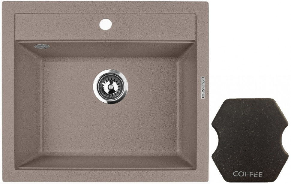 Кухонная мойка COFFEE Lava Q2.CFF lava q2 серый q2 sca