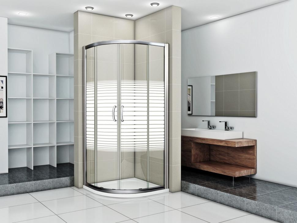 Душевой уголок 80х80 см Good Door Infinity R-80-S-CH прозрачный с рисунком