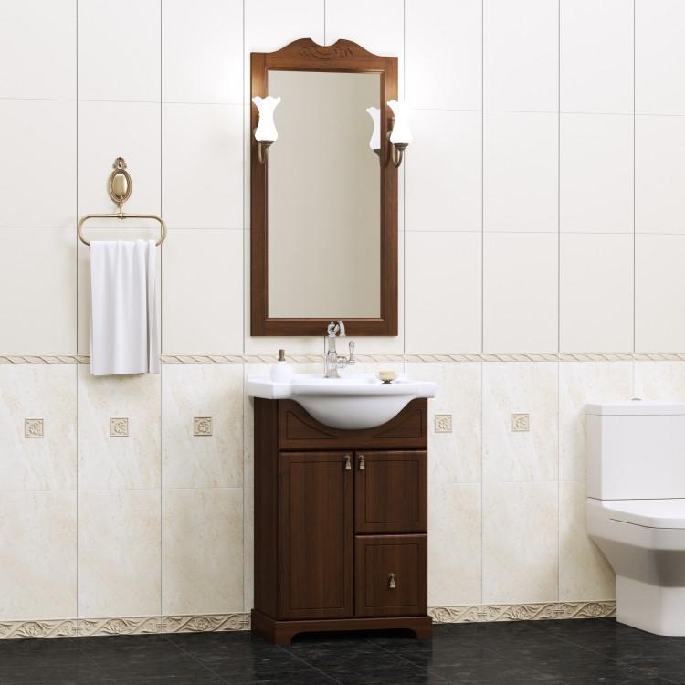 Фото - Тумба с раковиной орех антикварный 56 см Opadiris Клио KLIO50TP46 комплект мебели орех антикварный 56 см opadiris клио karla75komp46