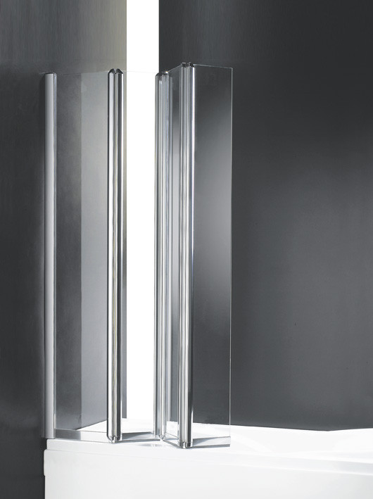 лучшая цена Шторка для ванны с одним неподвижным стеклом Cezares Trio 90 см прозрачное стекло TRIO-W-V-3-90/140-C-Cr-L