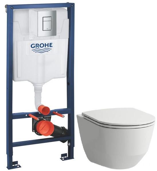 Комплект подвесной унитаз Laufen Pro 8.2096.6.000.000.1 + 8.9896.6.000.000.1 + система инсталляции Grohe 38772001