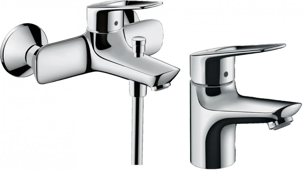Комплект смесителей Hansgrohe Novus Loop 71340000 + 71080000 смеситель для ванны hansgrohe novus loop 71340000