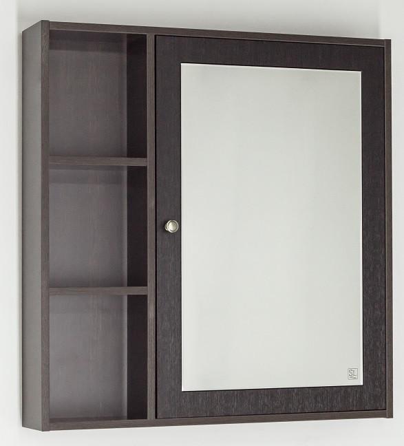 Зеркальный шкаф 75х80 см венге Style Line Кантри LC-00000032 зеркальный шкаф style line кантри 75 2000949009926