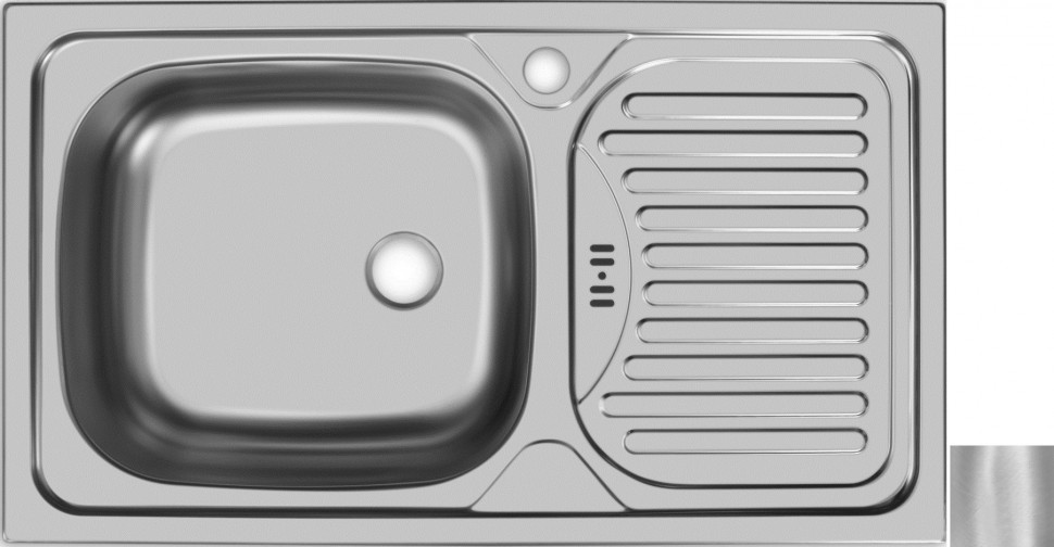 Кухонная мойка матовая сталь Ukinox Классика CLM760.435 -GW6K 2L