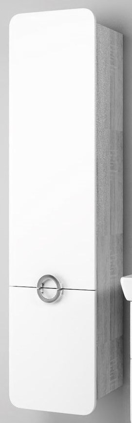 Пенал белый матовый/дуб седой Aqwella Alicante Alic.05.04/L/Gray тумба под раковину aqwella alicante 49 5x35 5 дуб седой alic 01 05 gray