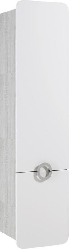 Фото - Пенал белый матовый/дуб седой Aqwella Alicante Alic.05.04/L/Gray пенал напольный универсальный дуб седой aqwella brig br 05 04 gray