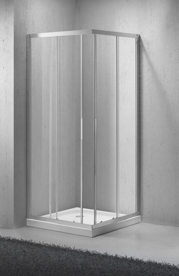 Фото - Душевой уголок BelBagno Sela 80х80 см текстурное стекло SELA-A-2-80-Ch-Cr душевой уголок belbagno sela 100х80 см текстурное стекло sela ah 2 100 80 ch cr