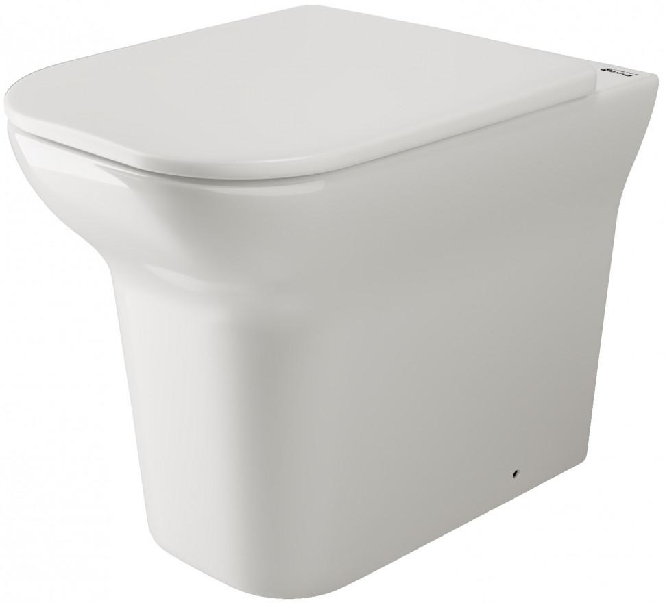 Приставной унитаз с сиденьем микролифт Ceramica Nova Enjoy CN1102E бордюр gracia ceramica aquarelle lilac 01 6 5x60
