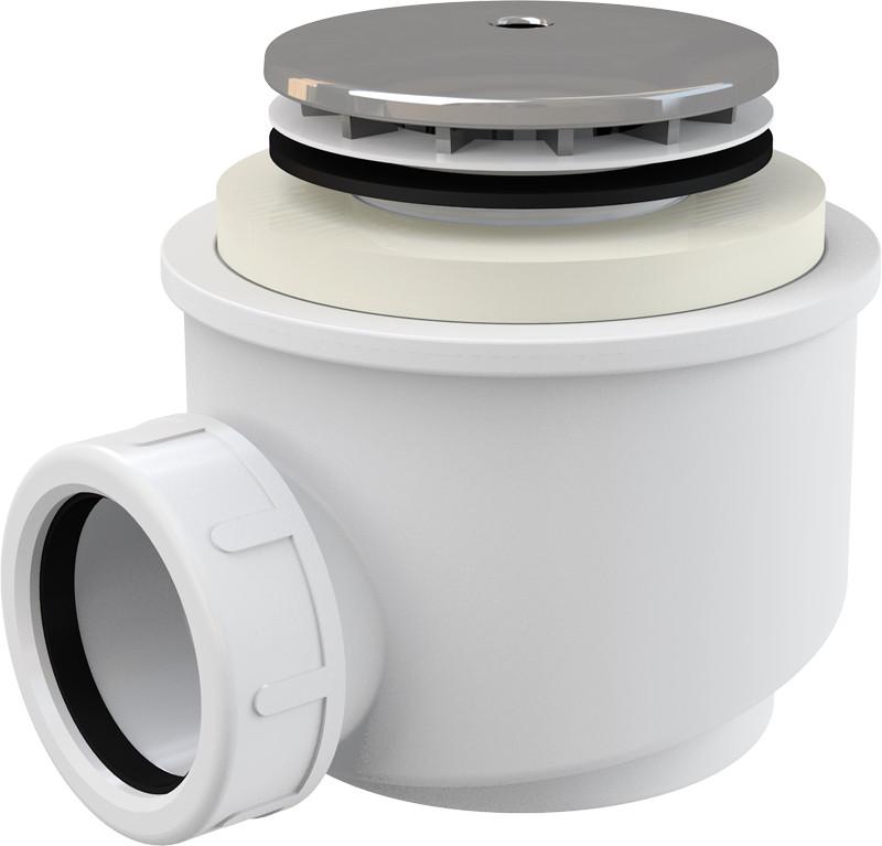 Сифон для поддона Ø 50 мм AlcaPlast A47CR-50 kitchen sponge shelf storage rack towel holder suction cup multifunctional soap shelf drainer bathroom accessories organizers