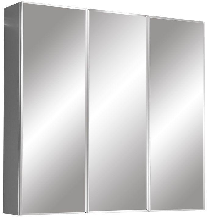 Зеркальный шкаф 80х70 см белый глянец/белый матовый Stella Polar Парма SP-00000126 фото