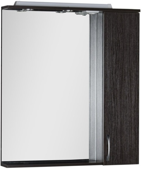Зеркальный шкаф 80х87 см с подсветкой венге Aquanet Донна 00168939 зеркало шкаф aquanet донна 100 венге 169185