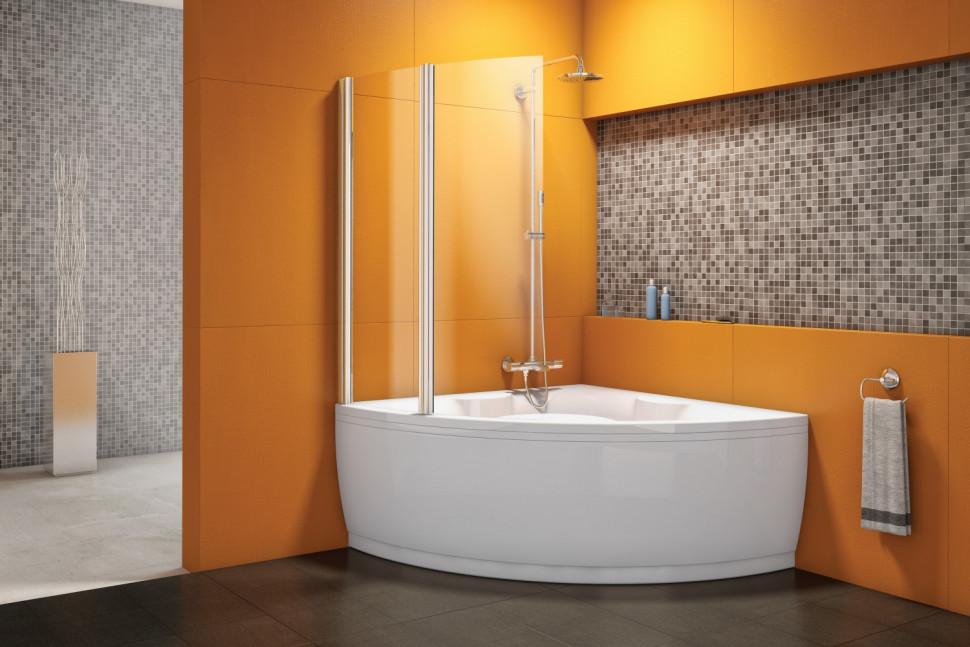 Шторка для ванны 103 см Kolpa San Sole TP 102 прозрачное