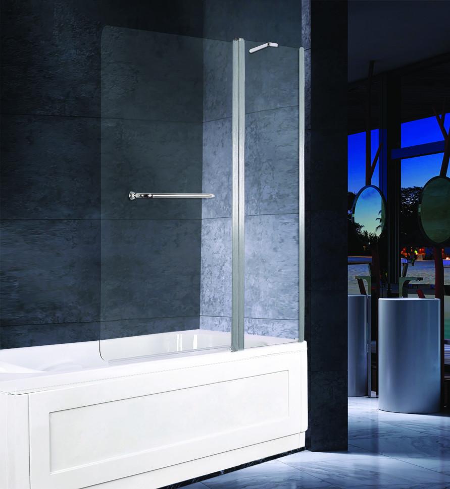 Шторка для ванны 120 см прозрачное стекло Esbano ES-1412 шторка для ванны 150 см esbano es 1415 прозрачное