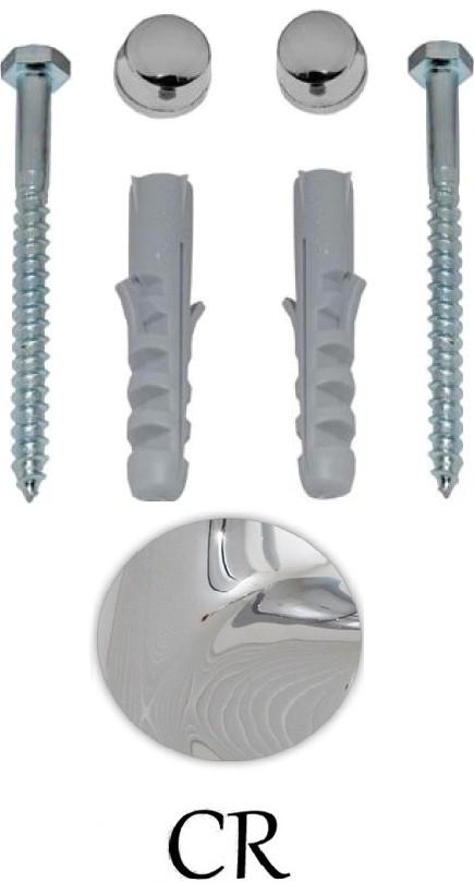 Комплект вертикальных крепежей для унитаза/биде с заглушками цвета хром Kerasan Retro 7603сr комплект горизонтальных крепежей для унитаза биде с колпачками хром kerasan 7614cr