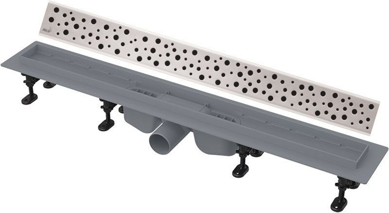 Душевой канал 744 мм нержавеющая сталь AlcaPlast APZ12 Buble APZ12-750 + BUBLE-750M фото