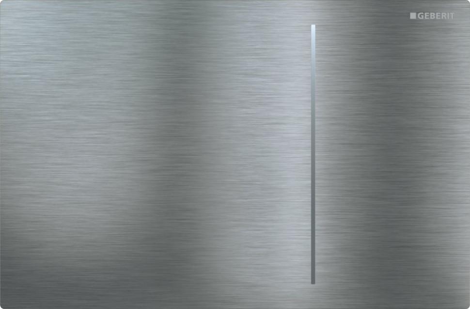 Смывная клавиша Geberit Sigma70 нержавеющая сталь потертая для двойного смыва, для бачков Sigma 8 см 115.625.FW.1 клавиша geberit sigma 20 двойной смыв 115 882 sn 1 нержавеющая сталь