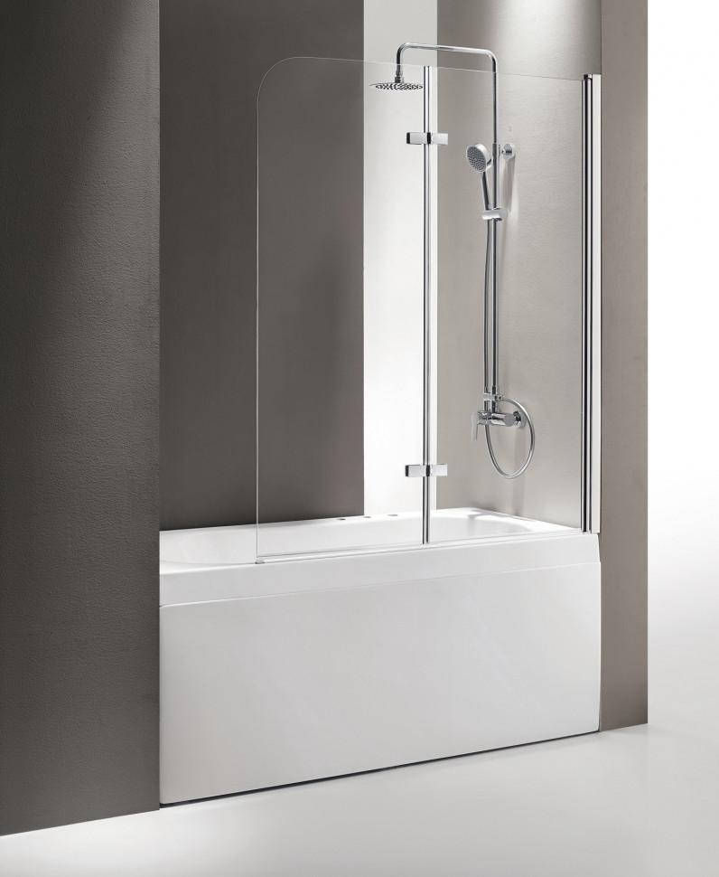 Шторка для ванны Cezares Eco 120 см текстурное стекло ECO-O-V-21-120/140-P-Cr-R