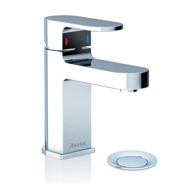Смеситель для умывальника с клапаном Ravak Chrome CR 011.00