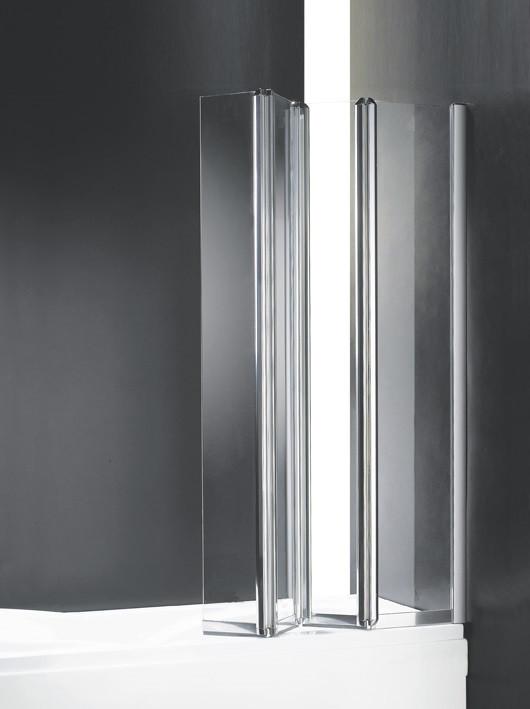 лучшая цена Шторка для ванны с одним неподвижным стеклом Cezares Trio 90 см прозрачное стекло TRIO-W-V-3-90/140-C-Cr-R