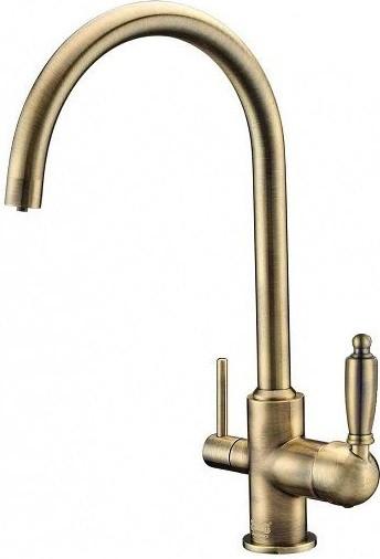 Смеситель для кухни с подключением к фильтру Zorg Sanitary ZR 317 YF-33 BR