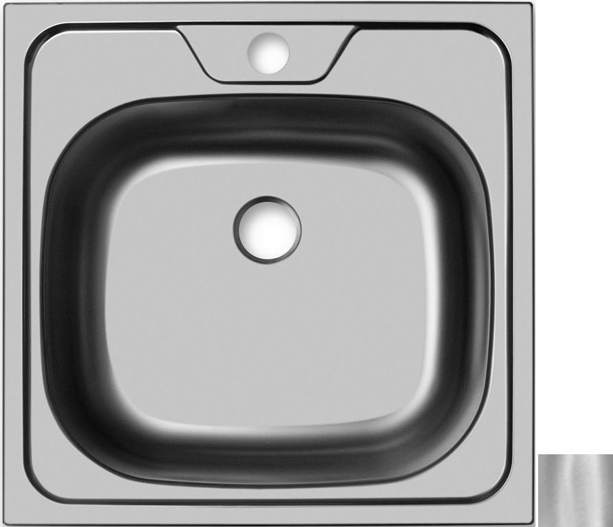 Кухонная мойка матовая сталь Ukinox Классика CLM480.480 --T6K 0C
