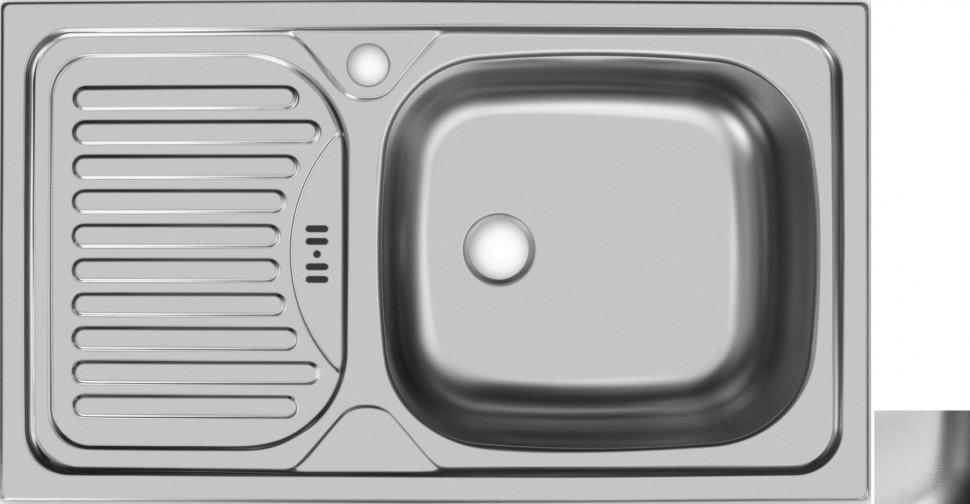 цена на Кухонная мойка декоративная сталь Ukinox Классика CLL760.435 -GW6K 1R