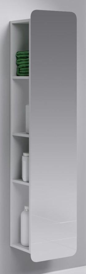 Пенал зеркальный/белый матовый Aqwella Alicante Alic.05.35 цена 2017