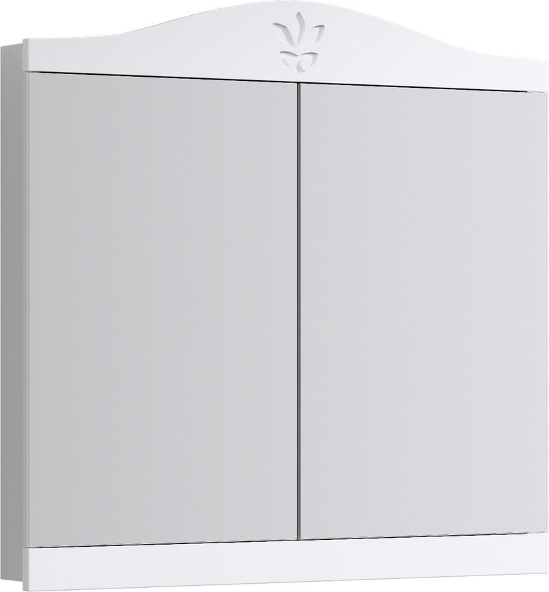 Зеркальный шкаф 85х93,5 см белый глянец Aqwella Franchesca FR0408 недорого