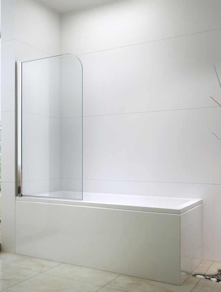 Шторка для ванны 80 см Berges River 065001 прозрачное недорого