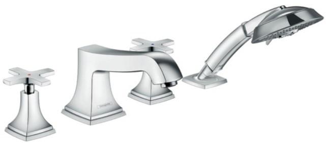 Смеситель на борт ванны Hansgrohe Metropol Classic 31449000 смеситель для ванны и душа hansgrohe metropol 74540000 хром