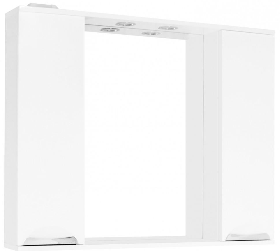 Фото - Зеркальный шкаф 100х83 см белый глянец Style Line Жасмин LC-00000586 зеркальный шкаф 50х83 см венге белый глянец style line панда стиль lc 00000086