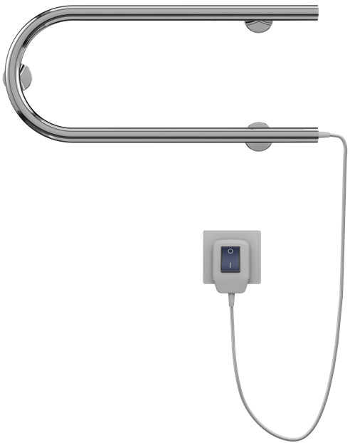 Полотенцесушитель электрический 225x600 мм Terminus П-образный