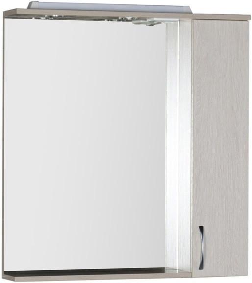 Зеркальный шкаф 80х87 см с подсветкой белый дуб Aquanet Донна 00169039 globo 6897