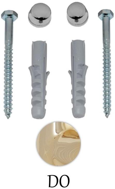Комплект вертикальных крепежей для унитаза/биде с заглушками цвета золото Kerasan Retro 7603gold комплект горизонтальных крепежей для унитаза биде с колпачками хром kerasan 7614cr
