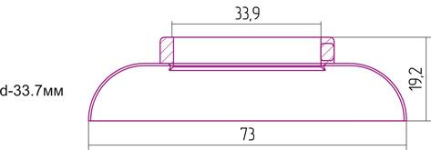 Отражатель декоративный d - 33,7 мм Сунержа 00-1028-0003