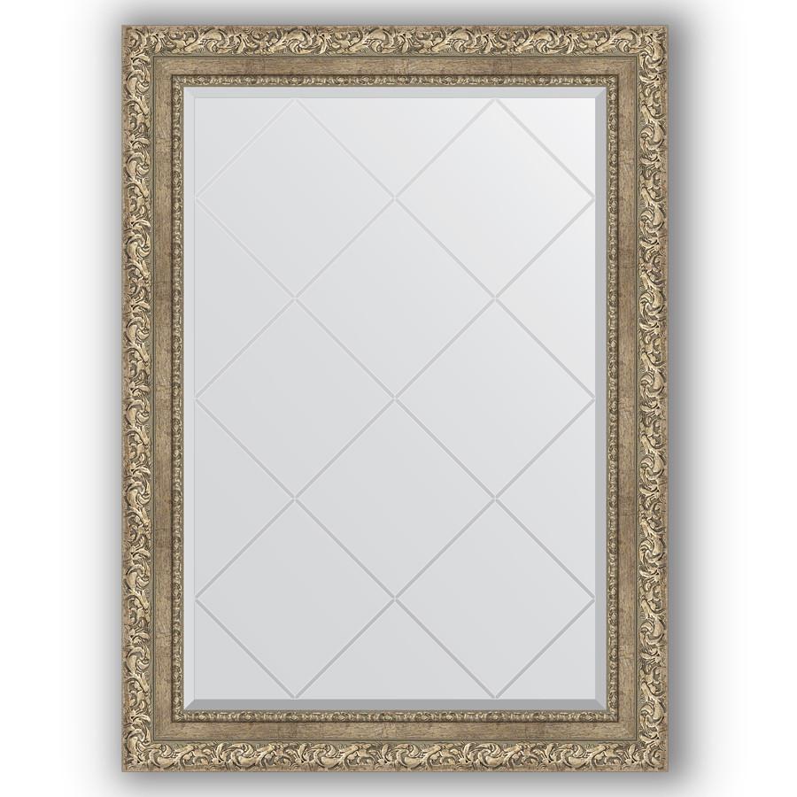Зеркало 75х102 см виньетка античное серебро Evoform Exclusive-G BY 4186 зеркало evoform exclusive g 72х55 виньетка античное серебро