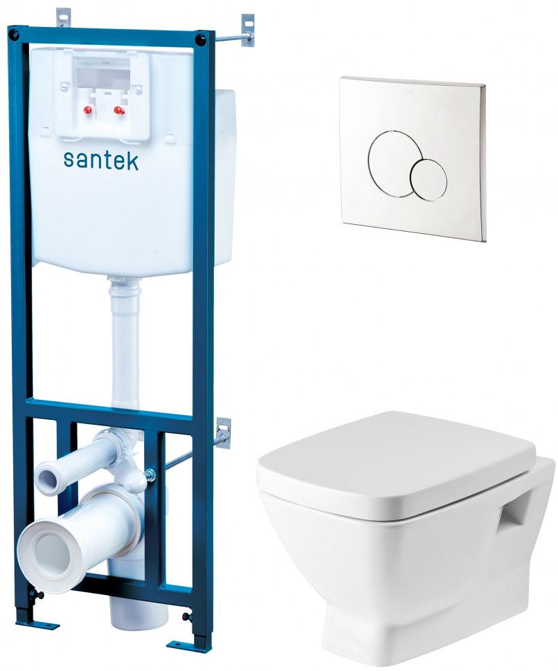Комплект подвесной унитаз + система инсталляции Santek Нео 1.WH50.1.543 фото