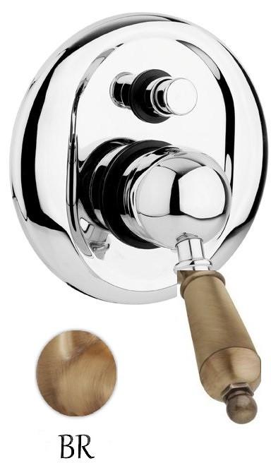 Смеситель для ванны бронза, ручка металл Cezares Elite ELITE-VDIM-02-M