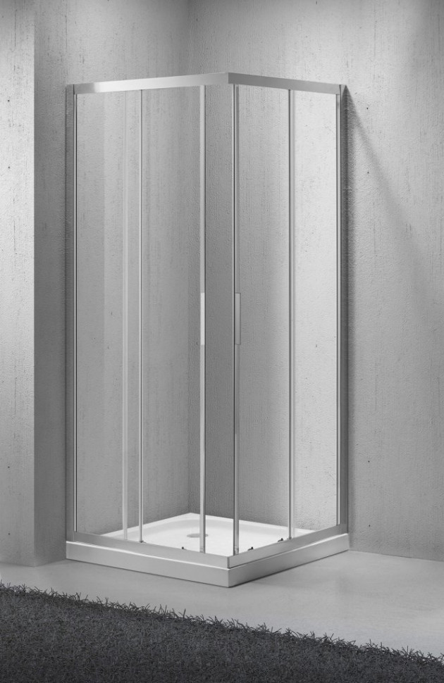 цена на Душевой уголок BelBagno Sela 85х85 см текстурное стекло SELA-A-2-85-Ch-Cr