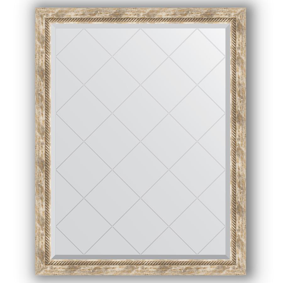 Зеркало 93х118 см прованс с плетением Evoform Exclusive-G BY 4349