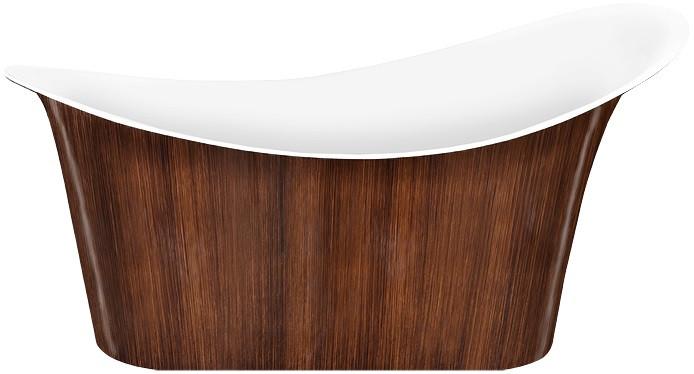 Акриловая ванна 175х82,5 см Lagard Tiffany Brown Wood lgd-tf-bw