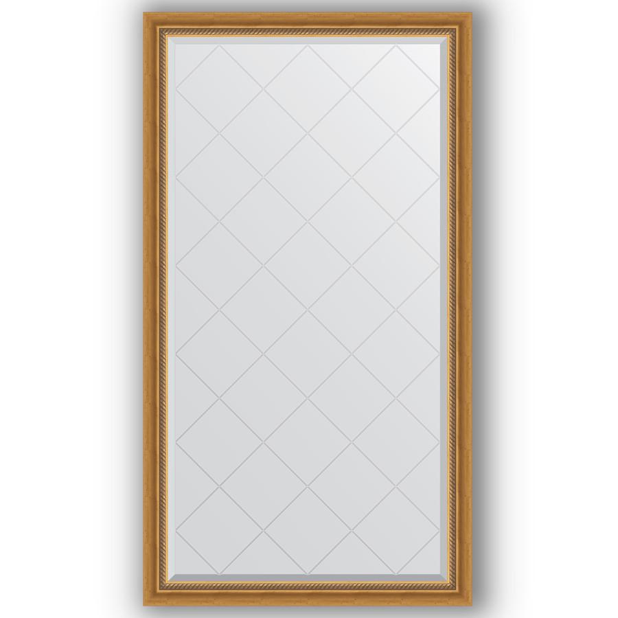 Зеркало 93х168 см состаренное золото с плетением Evoform Exclusive-G BY 4389