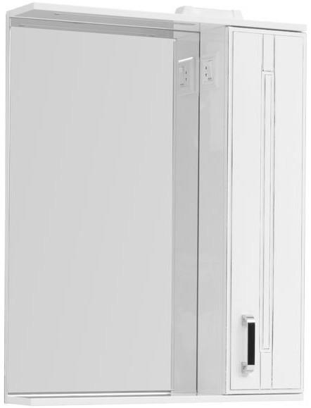 Зеркальный шкаф 70х90 см с подсветкой белый антик Aquanet Рондо 00196771 карнизы и аксессуары для штор liedecor штородержатель магнитный рондо цвет антик