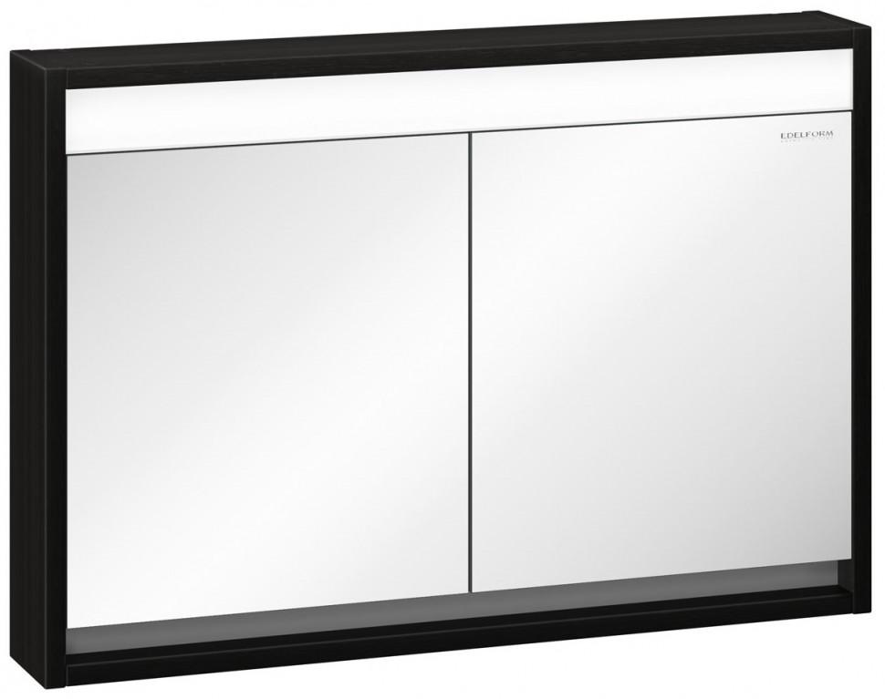 зеркальный шкаф edelform уника 100 белый с дуб гальяно 2 741 45 s Зеркальный шкаф белый глянец/венге 99х68 см Edelform Constante 2-667-14-S