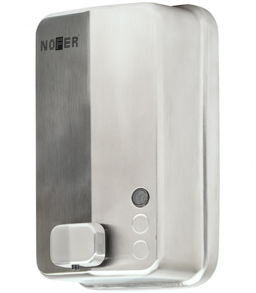 Диспенсер для мыла 1200 мл хром Nofer Inox Evo 03050.B диспенсер для мыла axentia nero 131056 черный 300 мл