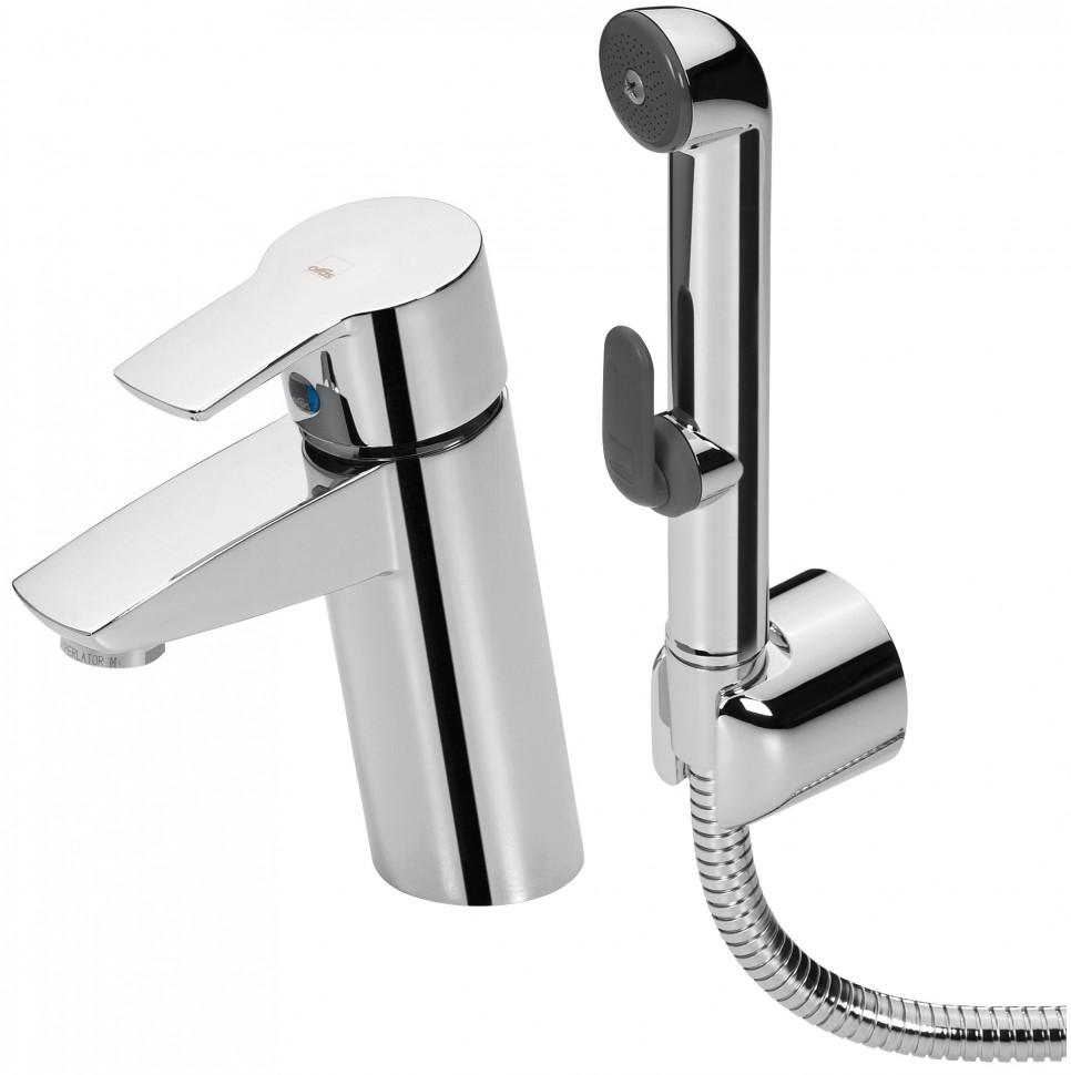 Смеситель для раковины с донным клапаном с гигиеническим душем Oras Cubista 2808F смеситель для раковины oras optima с гигиеническим душем 2712f