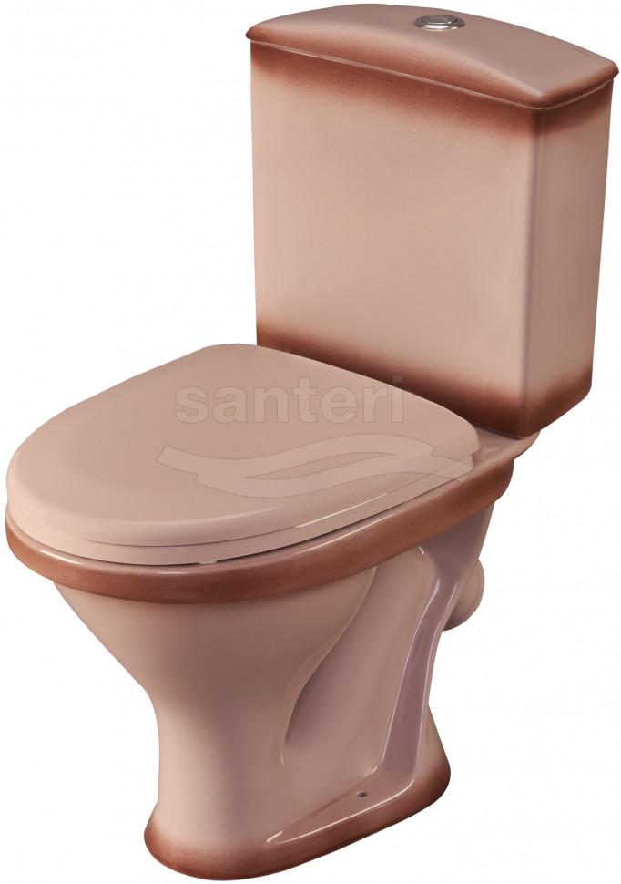 Унитаз-компакт с сиденьем Santeri West 1.P201.8.S07.00B.F унитаз компакт с сиденьем santeri forward 1 p205 2 s00 00b f