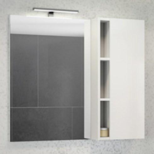 цена Зеркальный шкаф 88х80 см белый глянец Comforty Милан 00004137130 онлайн в 2017 году